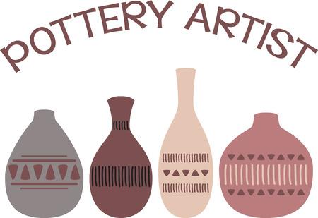Hanteer je fantasie en gebruik deze kleurrijke en elegante ontwerp op kleding voor uw aardewerk liefhebbers!