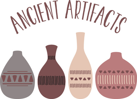 artisan: Wield your imagination and use this colorful and elegant design on clothing for your pottery enthusiasts!
