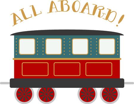 Jongens van alle leeftijden zullen van een choo choo-trein houden. Stock Illustratie