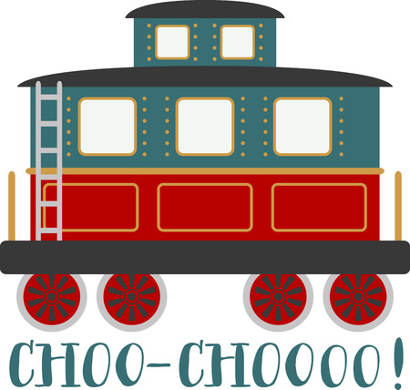 caboose: Boys of all ages will love a choo choo train.