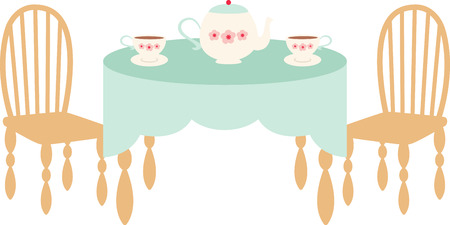 Elegant and perfect for afternoon tea, this design is adorable for a tablecloth or curtain. A great design on home decor projects.