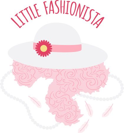 Try this elegant fashion vintage hat design on your clothes that will set you apart from the rest of the crowd! Ilustrace