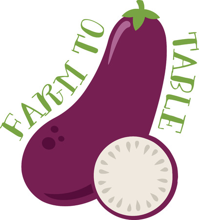 aubergine: Eggplants are an all time favorite when it comes to kitchen decor.  This design will be perfect on table linens, kitchen mats, wall decor, wall plaques and more.