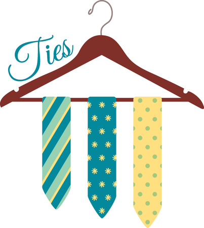 Cut the clutter and stay organized with this necktie hanger.  This design is great to make unique gifts for loved ones! Ilustracja