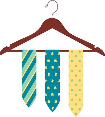 Cut the clutter and stay organized with this necktie hanger.  This design is great to make unique gifts for loved ones! Иллюстрация