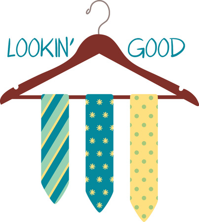 Cut the clutter and stay organized with this necktie hanger.  This design is great to make unique gifts for loved ones! Illustration
