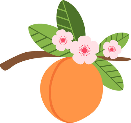 early spring: Peach blossom make early spring a particularly delicious gardening moment. Spread spring freshness with this design on your spring projects! Illustration