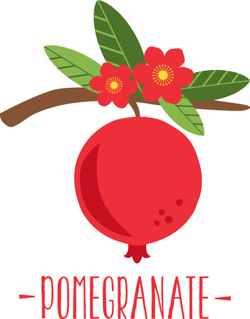Pomegranate blossom make late spring a particularly delicious gardening moment. Spread spring freshness with this design on your spring projects!