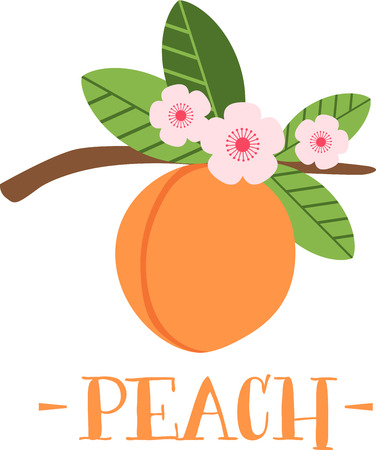 cling: Peach blossom make early spring a particularly delicious gardening moment. Spread spring freshness with this design on your spring projects! Illustration