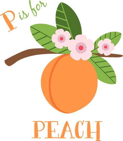 桃の花は、特においしいガーデニング瞬間の早いばねを作る。春のプロジェクトでこのデザインと春の新鮮さを広める!  イラスト・ベクター素材