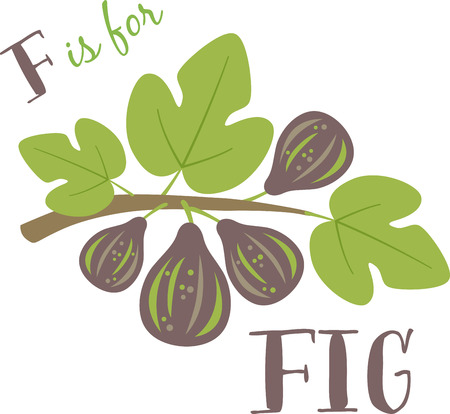 fig leaf: Fig blossom make spring a particularly delicious gardening moment. Spread spring freshness with this design on your spring projects!