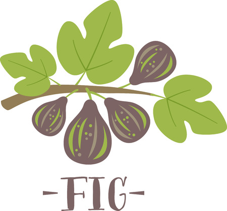 Fig blossom make spring a particularly delicious gardening moment. Spread spring freshness with this design on your spring projects!