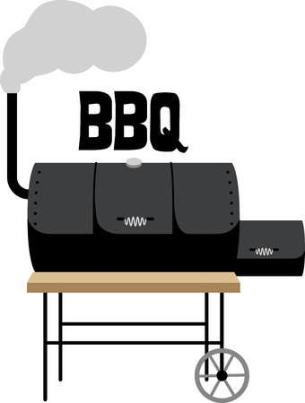 gas barbecue: Have a great cookout with a smoker on a grillers apron.