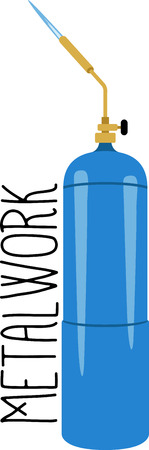 propane: Craftsmen will like some tools as a logo on an apron for their work. Illustration