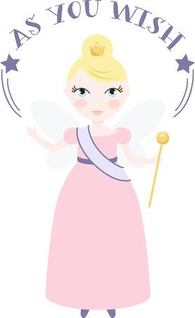 A pretty fairy will spread happiness.