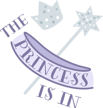 sash: Every little girl can be a princess with a crown and wand.