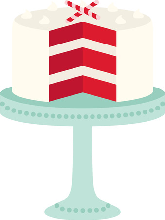Every chef and cook will love a delicious cake in their kitchen. Ilustração