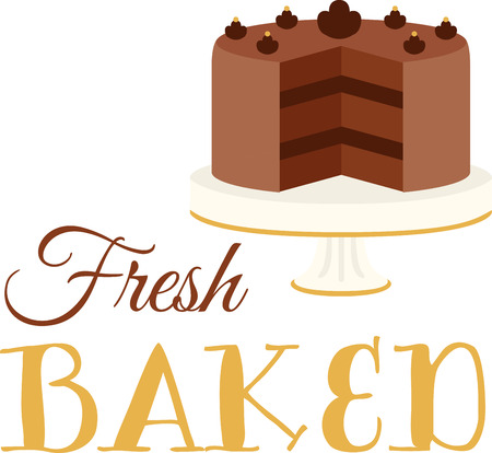 Every chef and cook will love a delicious cake in their kitchen. Ilustrace