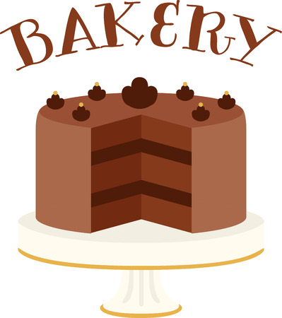 Every chef and cook will love a delicious cake in their kitchen. 向量圖像