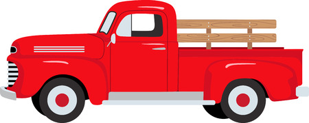 The classic farm truck will satisfy vehicle-lovers of any age!  A great design for T-shirts and sweatshirts.