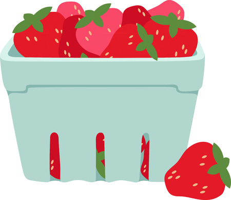 plump: Little screams summer quite like the sweet scent and ripe taste of fresh, plump strawberries.  Enjoy the harvest with this design on place mats and linens! Illustration