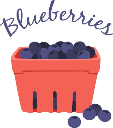 Beat the summertime blues with blueberries!  Create a splendid look for summer with this design on place mats and linens!