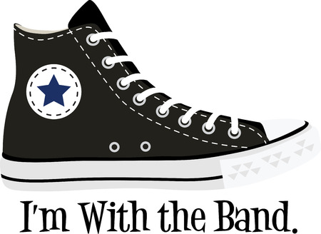 converse: Rock on the wild side! Stitch this cool  design on shirts, bags, and more for your rock stars.