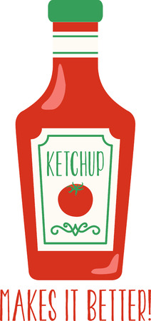 condiment: Accent your kitchen with delicious foods. Illustration