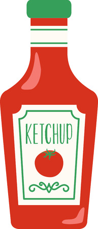 tomato catsup: Accent your kitchen with delicious foods. Illustration