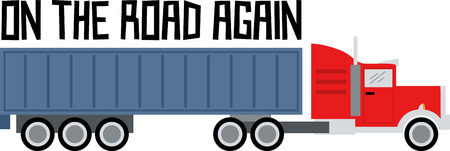 hauler: Add to the arsenal of trucks for your vehicle lovers, with this design on t-shirts, kids room decor and more. Illustration