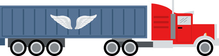 Add to the arsenal of trucks for your vehicle lovers, with this design on t-shirts, kids room decor and more. Иллюстрация