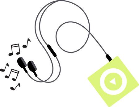 Luister naar swingende muziek. Deze toonhoogte perfecte muziek nota ontwerp zal groot op projecten voor uw muziek minnaar!