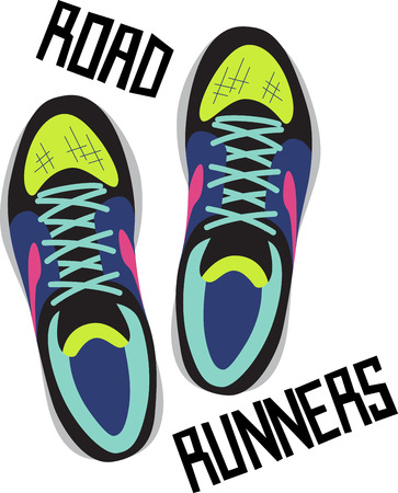 tennis shoe: Looking for the perfect Birthday or Christmas gift Embroider this design on clothes, towels, pillows, gym bags, quilts, t-shirts, jackets or wall hangings for your fitness enthusiasts! Illustration
