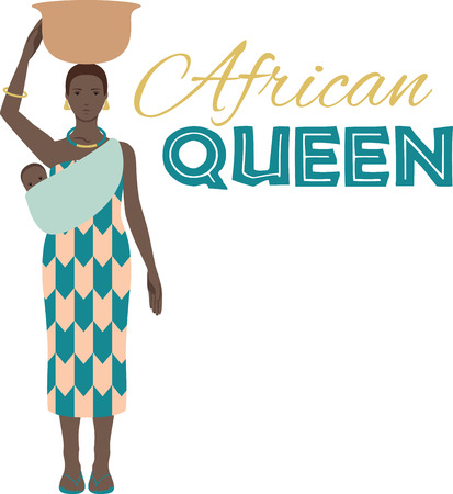 african basket: Show pride for your favorite country and make a great keepsake with this design on t-shirts, jackets, sweatshirts, hats and more! Illustration
