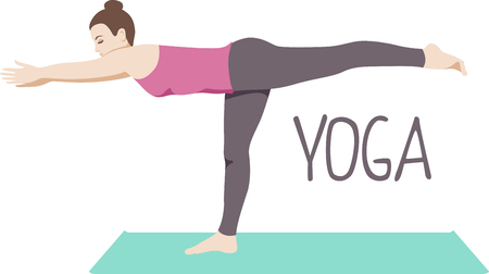 the yogi: Achieve union of the spirit, body and mind and attain mind-body balance. Illustration