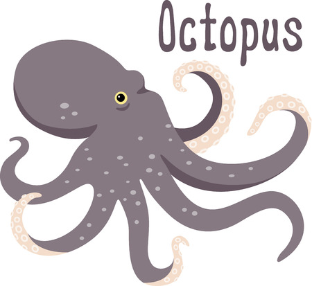 is magnificent: This magnificent octopus is ready to swim onto towels, beach totes, t-shirts, quilts and more!