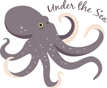 tentacle: This magnificent octopus is ready to swim onto towels, beach totes, t-shirts, quilts and more!
