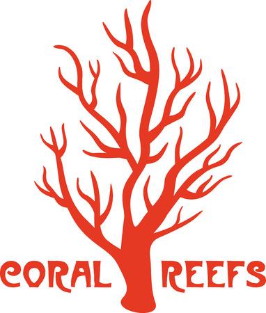 Deze heldere en kleurrijke koraalriffen ontwerp zal een oceaan van charme brengen aan uw interieur!