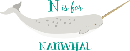 This impressive looking narwhal is a sharp design for sport fishermen, boaters, and ocean lovers!