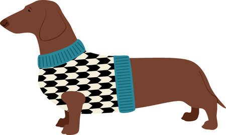This design is sure to warm the hearts of dog lovers and will be adorable on sweatshirts, dog jackets, totes and more. Stock Illustratie