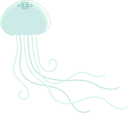 is magnificent: This magnificent jellyfish is ready to swim onto towels, beach totes, t-shirts, quilts and more!