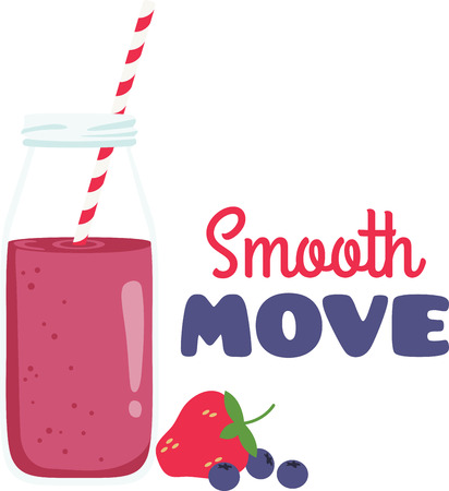 Blend up some refreshment on your kitchen decor with this smoothie design on tablecloths, kitchen linen and more!