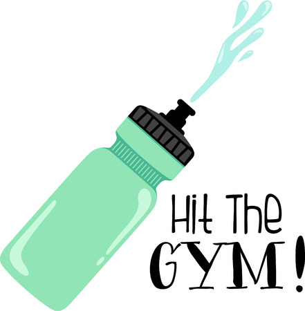 squirt: Looking for the perfect Birthday or Christmas gift Embroider this design on clothes, towels, pillows, gym bags, quilts, t-shirts, jackets or wall hangings for your fitness enthusiasts! Illustration