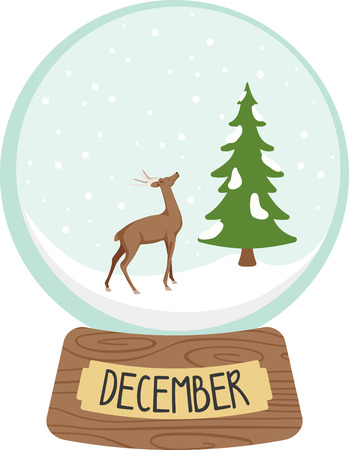excitement: Believe in the magic of winter and get swept into the excitement with this design on clothing, framed embroidery, totes and more for the holidays! Illustration