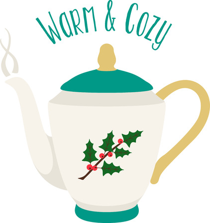 Nothing like a cup of hot tea to start your day!  This colorful design will be hot and steamy on cozies, kitchen towels and more.