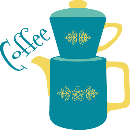 pitcher's: Nothing like a cup of hot tea to start your day!  This colorful design will be hot and steamy on cozies, kitchen towels and more.