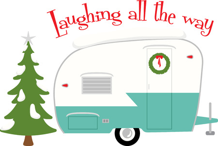 run out: Load up, head out and run you camper through some adventure this winter with this design on framed embroidery, towels, clothing and more!