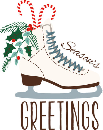 riband: Grab your friends or family and lace up your skates! Take a spin on the ice with this design on clothes, towels, pillows, bags, t-shirts and jackets for your skater!
