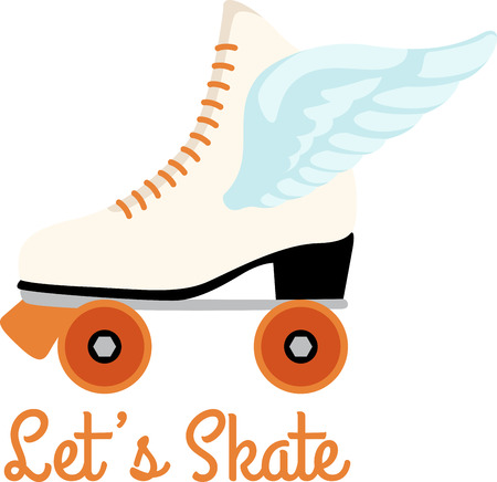 Grab your friends or family and lace up your skates! Take a spin with this design on clothes, towels, pillows, bags, t-shirts and jackets for your skater!