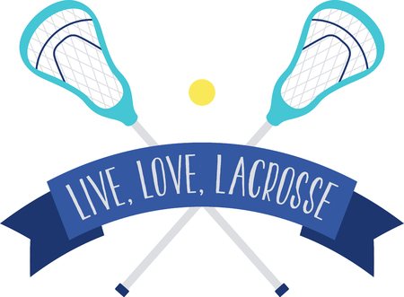Looking for the perfect Birthday or Christmas gift Embroider this design on clothes, towels, pillows, gym bags, quilts, t-shirts, jackets or wall hangings for your lacrosse enthusiast!